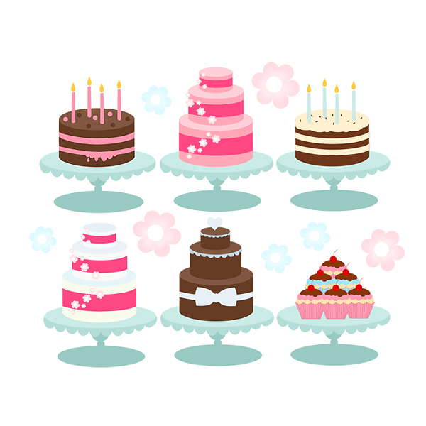 Clip Art Bakery Cake : Cake Clipart - Cakes, Bakery, Cupcakes, Birthday Candles ...